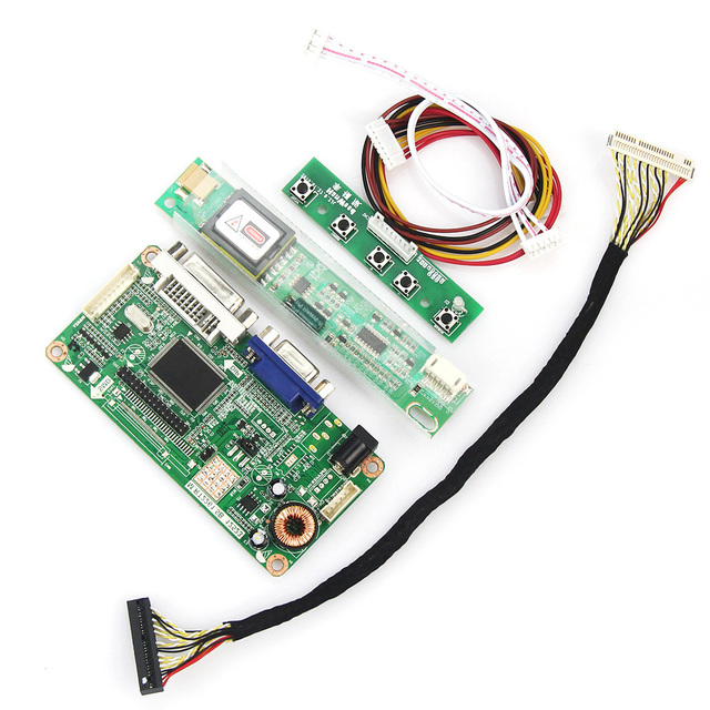 Para LTN150XB N150X3 VGA + DVI M. R2261 M. RT2281 LCD/LED LVDS Placa Driver Do Controlador Do Monitor reutilizar Laptop 1024*768