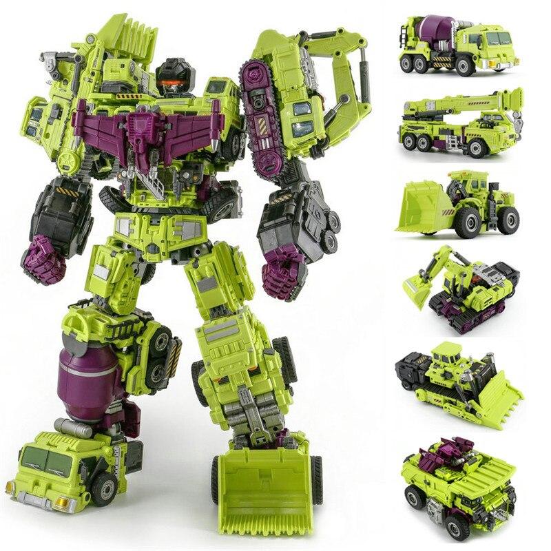 JINBAO Big Size 6 IN 1 Transformation Devastator Boy Toy Action Figure Robot Car Truck KO