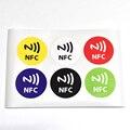 6 unids/lote, NTAG213 NFC etiqueta adhesiva RFID compatible con todos los productos nfc NTAG203 dia 30mm