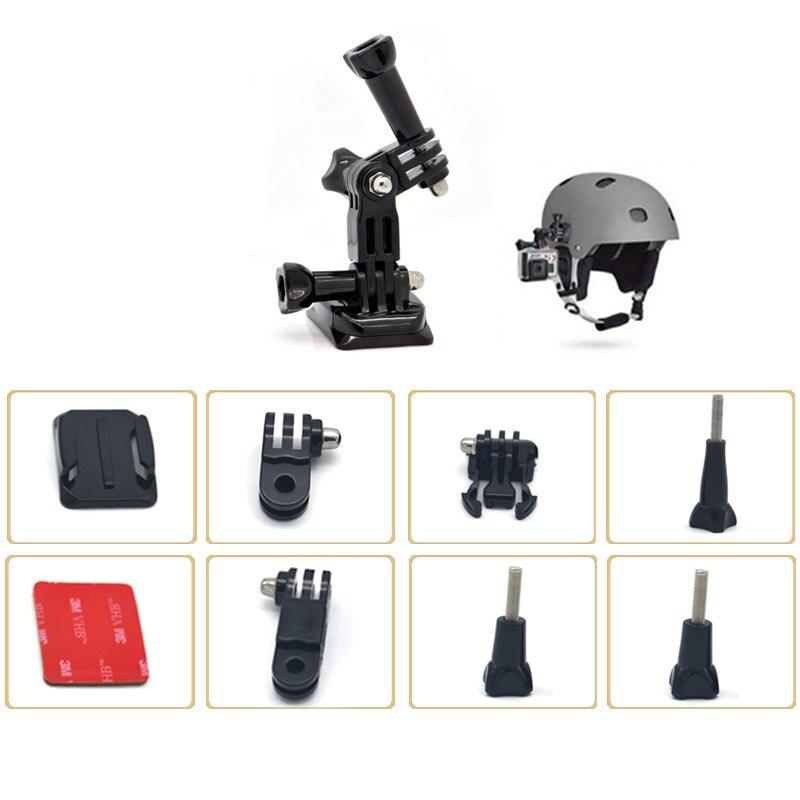 Helmet Side Mount Kits Flat Curved Base Mounts for Go pro Hero 5//4//3+//3//2 vdP GD