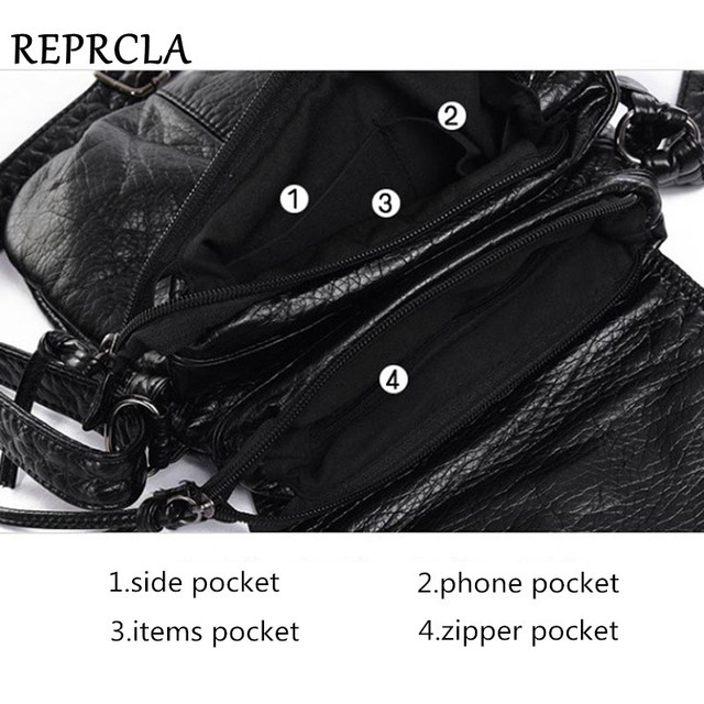 REPRCLA Brand Designer Women Messenger Bags Crossbody Soft PU Leather Shoulder Bag High Quality Fashion Women Bags Handbags 5