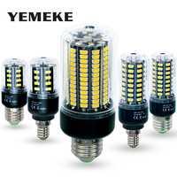 Bombilla LED bombilla E27 SMD 5736 lamparas Luz LED 28 40 72 108 132 156 LED lampara LED E14 85-265V ampolla Luz de vela