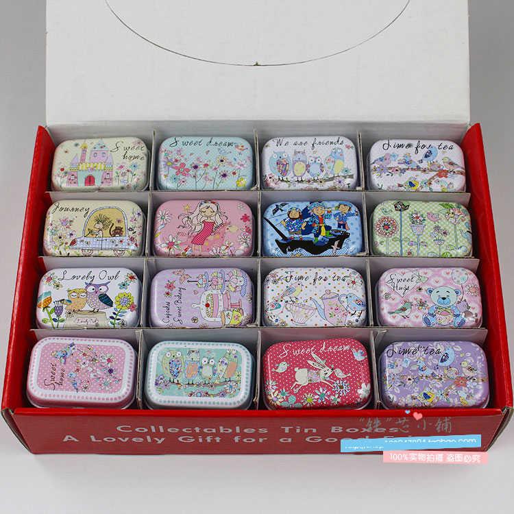 1 pc colorido mini lata caixa selada jar caixas de embalagem jóias, caixa de doces pequenas caixas de armazenamento latas moeda brinco 5.5*3.8*2.5cm r1041