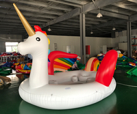 Free shipping door to door Inflatable Unicorn Giant Pool Float Toy Swimming Ring Mattress Adult Kids Beach Water Family Party