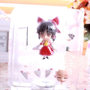 Image 2 - New Arrival 10cm Anime Action Figure Touhou Project Cartoon Hakurei Reimu 74# PVC Model Collection Cute 4 Mini Doll 1/10 Scale
