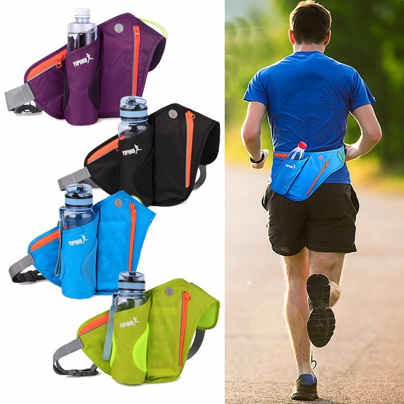 Riñonera para mujer, riñonera para correr, bolsa, cinturón, cartera para hombre, funda de bolsillo para teléfono móvil, Camping, senderismo, deportes, oferta de botella de agua