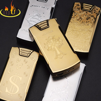 Single Arc Pulse Electronic Cigarette Lighter Electric Arc Gold And Sliver Colorful Charge USB Lighters JL