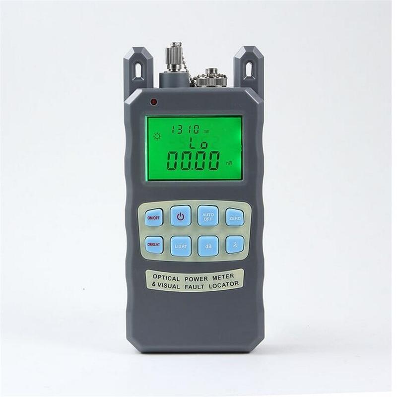 2 IN 1 օպտիկամանրաթելային էներգիայի հաշվիչ -70-ից + 10dBm և 1 մվտ 5 կմ օպտիկամանրաթելային մալուխի թեստերի տեսողական թերությունների տեղորոշիչ 4PCS / LOT
