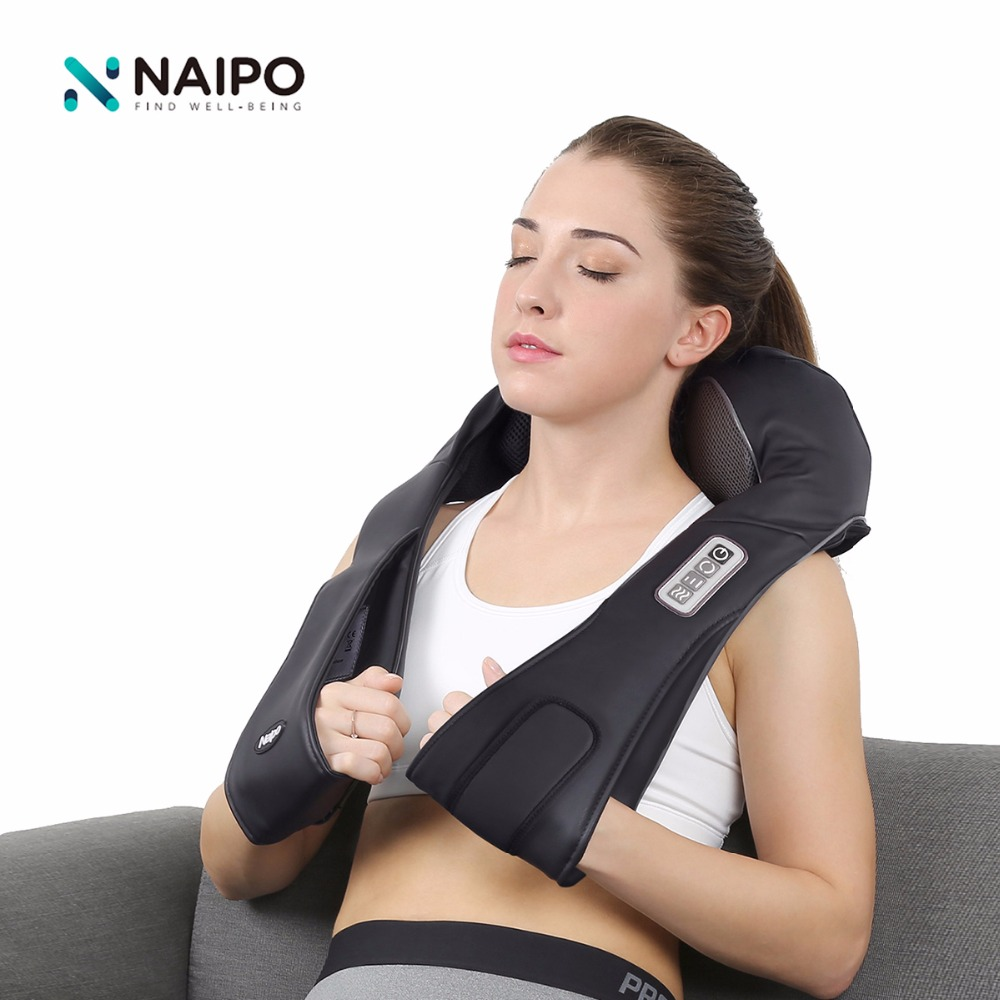 Naipo Cordless Massager Rechargeable Multifunction Shoulder Shiatsu Kneading Massage Car Home Travel Slimmer Massage Muscle multifunction vibrating kneading shiatsu massage shoulder