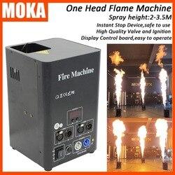 Alta qualidade máquina de ignição fogo fase chama máquina dmx controle spray efeito fase chama projetor com canal seguro