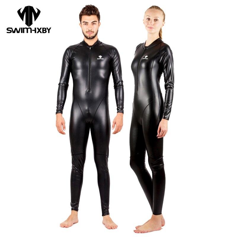 HXBY Impermeabile Costume Da Bagno Degli Uomini di Tutto il Corpo Più Il Formato Costumi Da Bagno Delle Donne di Un Pezzo Vestito di Nuoto Per Le Donne di Inverno del Vestito di Nuotata Competitivo