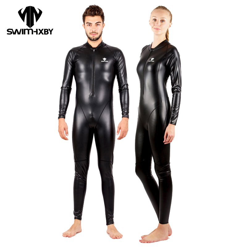 HXBY Waterproof Swimsuit Men Full Body Plus Size Swimwear Women One Piece  Competitive Swimming Suit For Women Winter Swim Suit a81d9d248