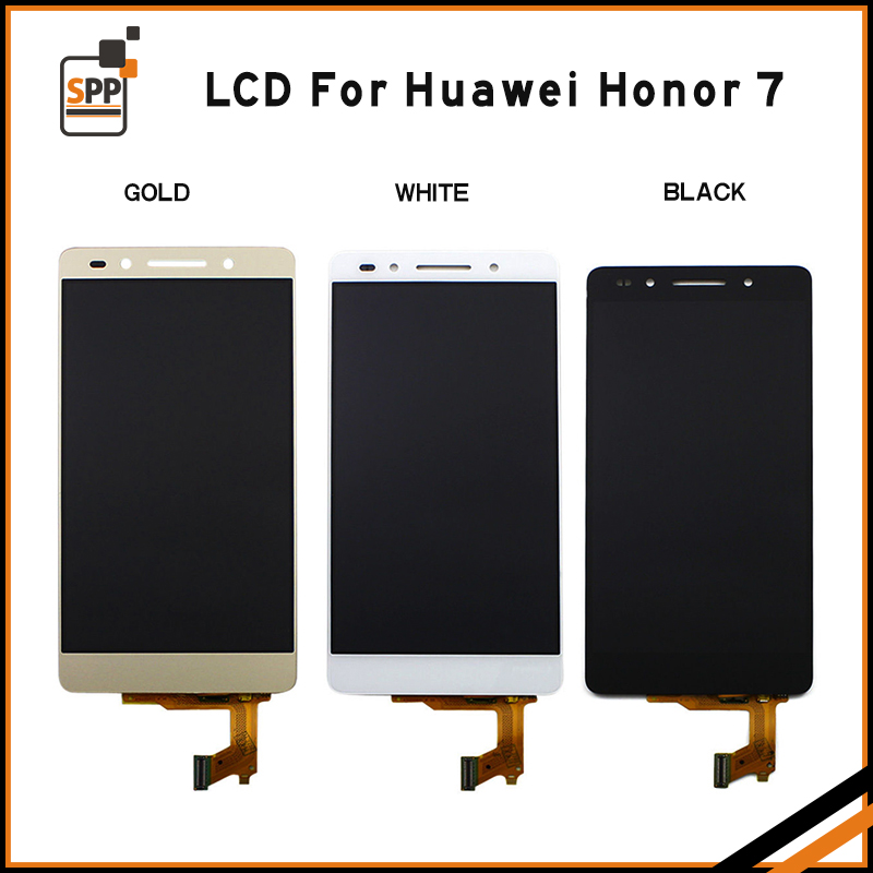 For Huawei Honor 7 LCD Display+Touch Screen 100% New Digitizer Glass Replacement For Huawei Honor7 Black White Gold+tool Gift
