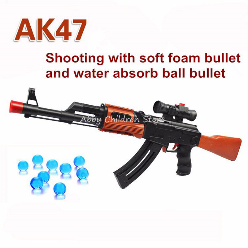 Abbyfrank AK 47 Paintball Toy Gun 400 Pcs Water Absorb Bullet 3 Pcs Soft Bullet Pistol Gun Water Gun Airgun Orbeez Toy