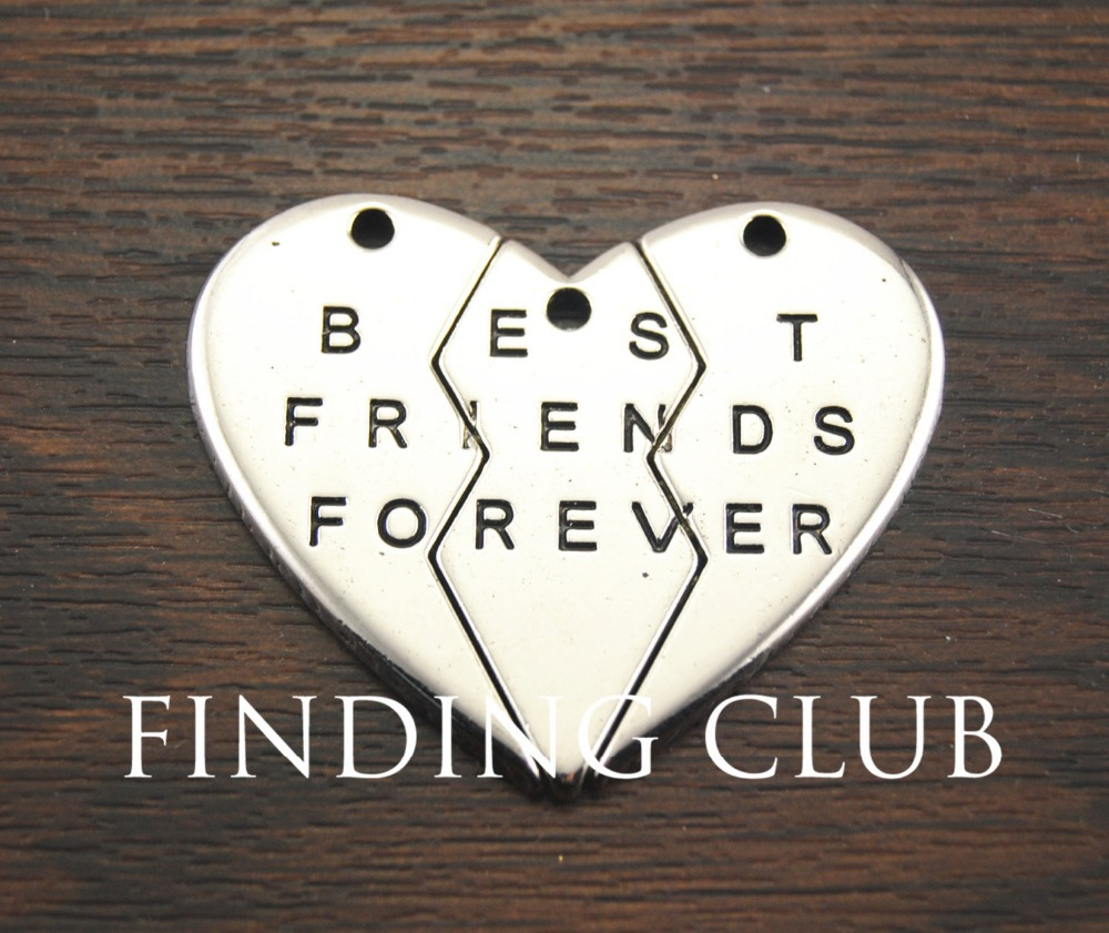 2 sets best friends forever broken hearts split hearts jigsaw