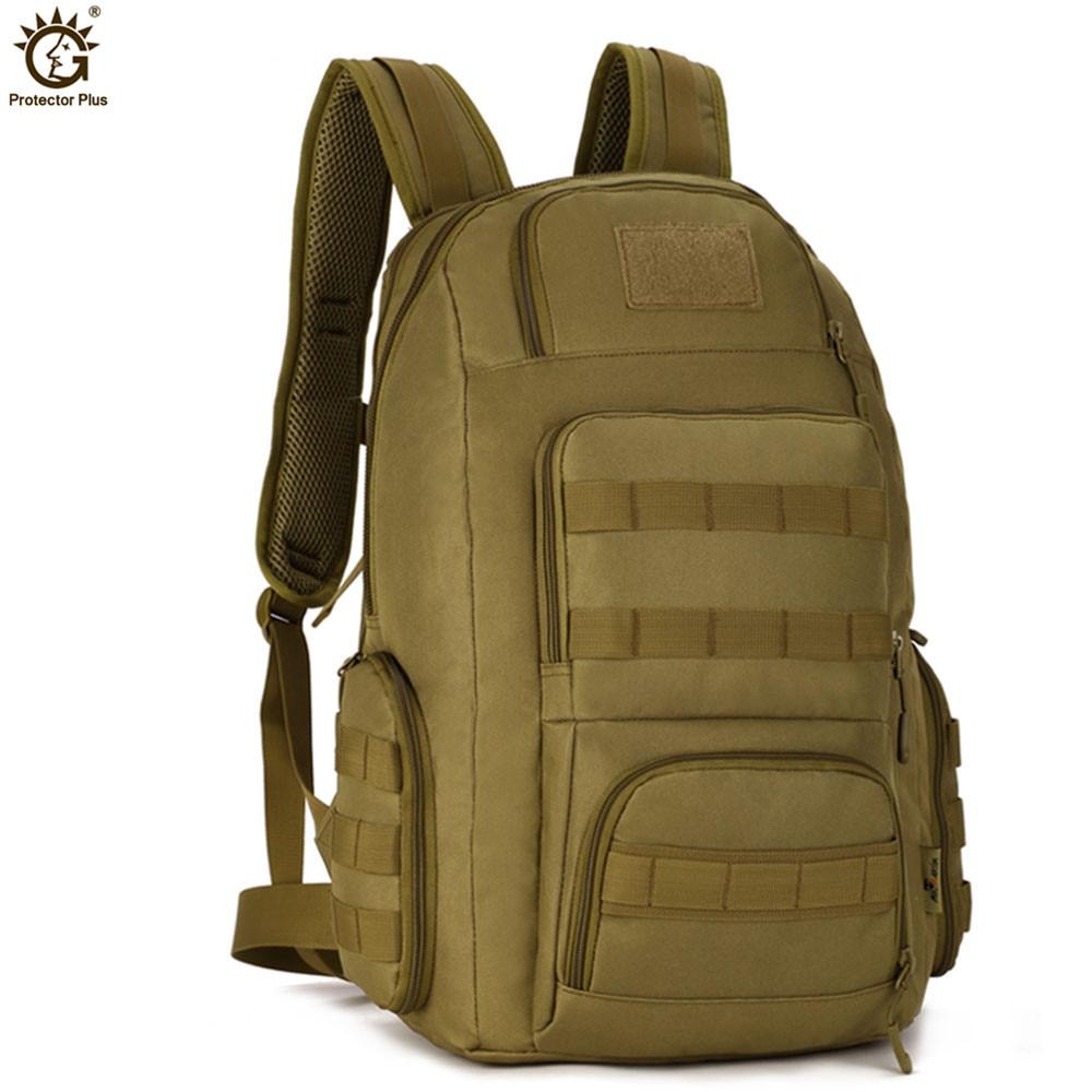 Tactics Mochila 14 pulgadas Loptop Men Militar MOLLE 40L Mochila de viaje de nylon de alta capacidad impermeable Nylon