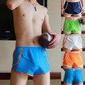 2017 Sexy Марка Man бесшовные Шорты Пижамы Мужские Боксер Стволы Гей Пениса Чехол Домой Пижамы сна нижняя Underwear Boxer