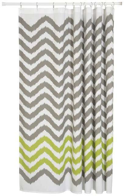Memory Home Chevron Shower Curtain Decor White Gray Green Striped Soft Fabric Bathroom Curtains Free Shipping