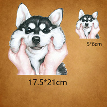 Dog Patch 32.7*15.75cm WOOF T-shirt Dresses Sweater DIY Accessory A-level Washable Iron-on Transfers Heat Press Appliqued