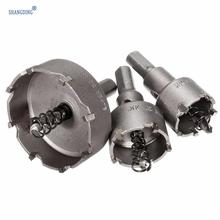 High Quality 3pcs/set 26+30+52mm Carbide Tip Stainless Steel TCT Drill Bit Alloy Hole Saw Cutter Tool New Arrival