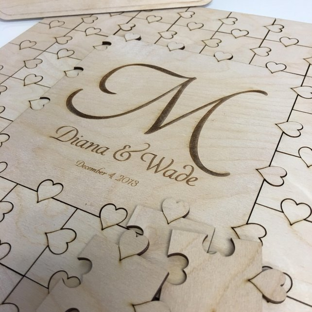 Unusual Wedding Guest Book Ideas: Puzzle Guest Book Wedding Guest Book Large Letter