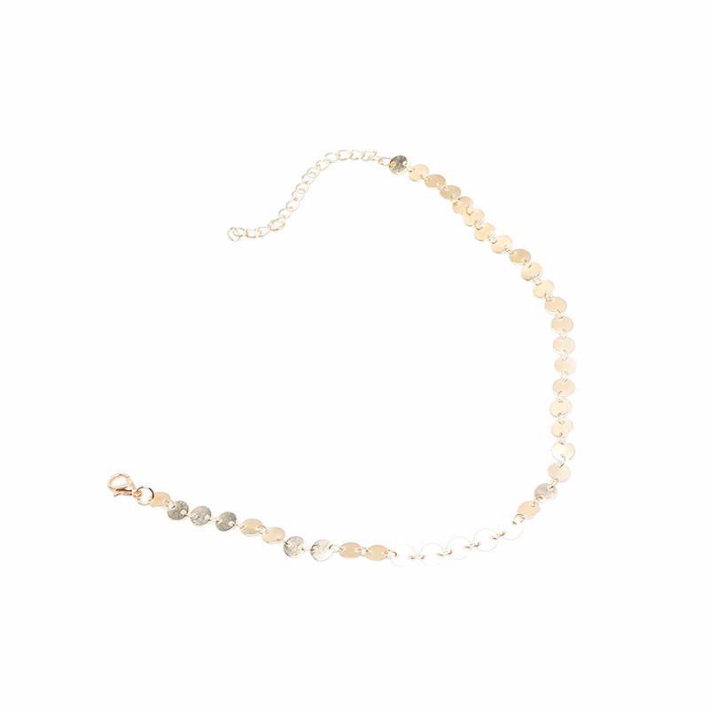 HTB1L7kkNVXXXXc.XVXXq6xXFXXXm Women's Copper Sequin Vintage Choker Necklace