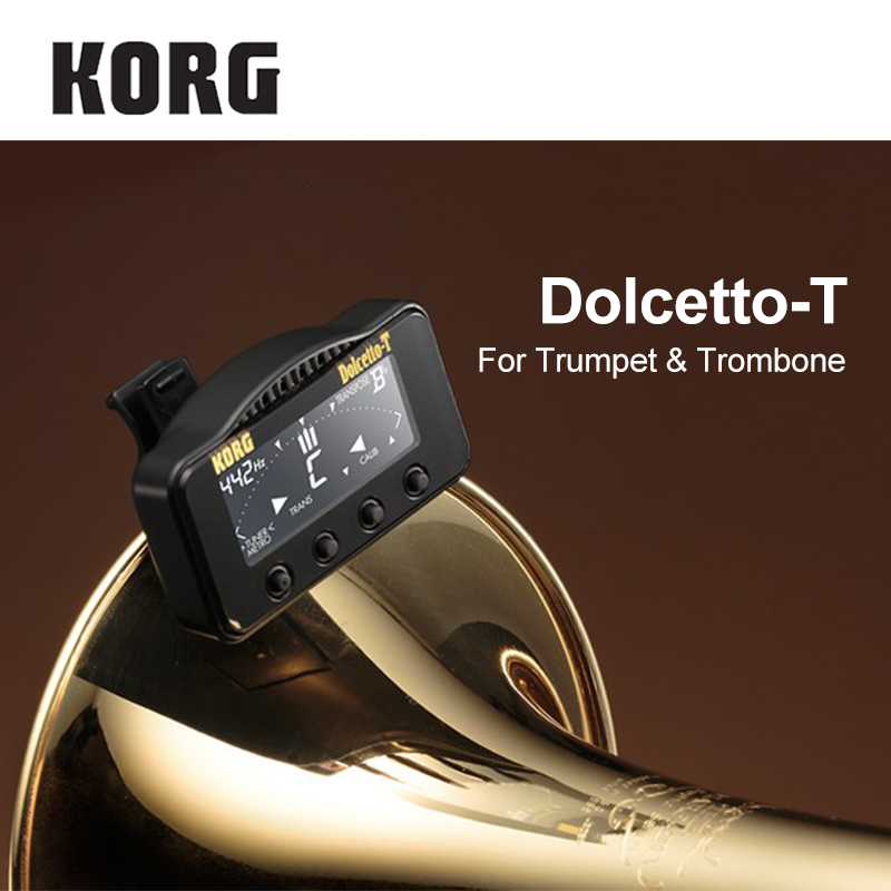 US $33 99 |KORG Dolcetto/Dolcetto T Clip On Tuner/Metronome for Orchestral  Instruments Trumpet & Trombone Tuner Brass & Wind Tuner-in Guitar Parts &