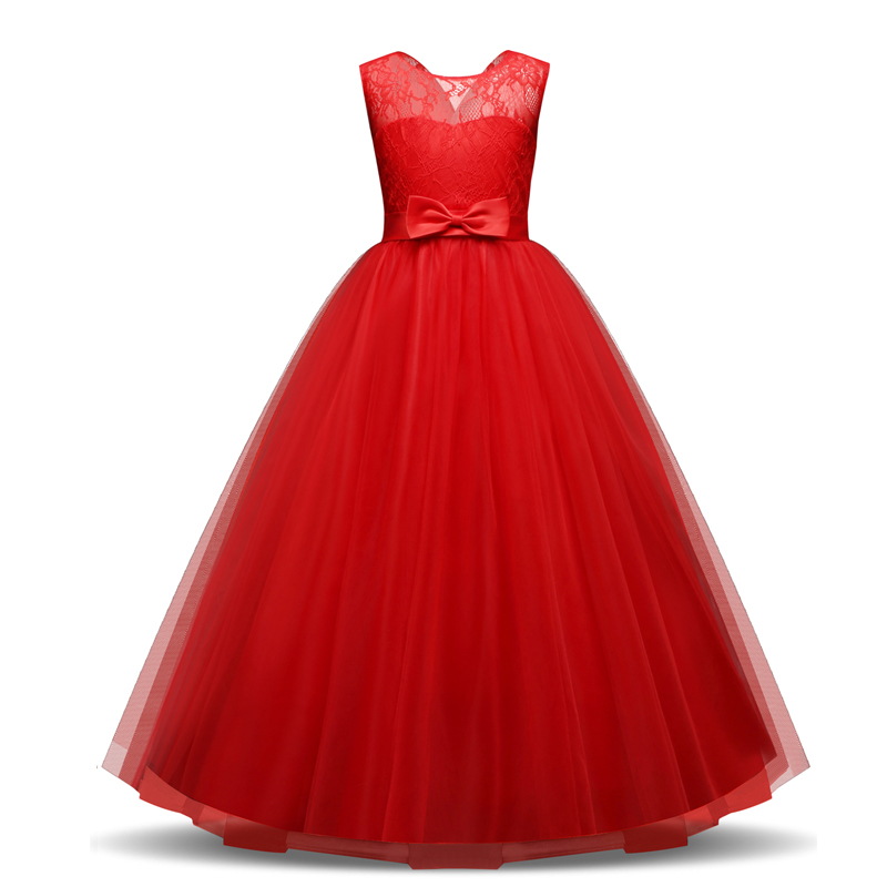 Red New Year Christmas Dress For Girl Fancy Party Wear