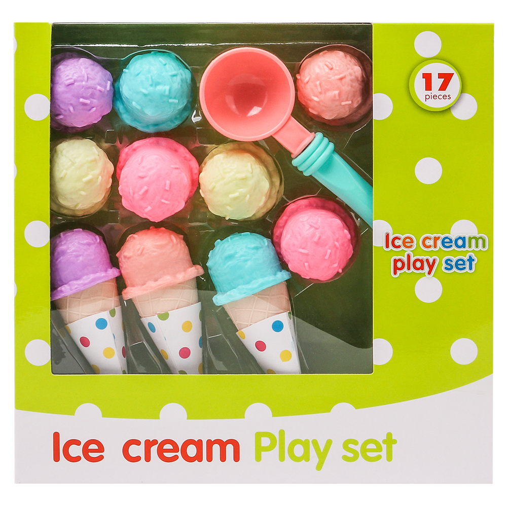 все цены на 17Pcs Simulation Ice Cream Play Set Pretend Play Toys Educational Kid Kitchen Set Fun Miniature Toys for Children