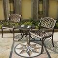 3 stück cast aluminium wetter risistant outdoor stuhl und tisch garten möbel für haus dekor-in Garten-Sets aus Möbel bei