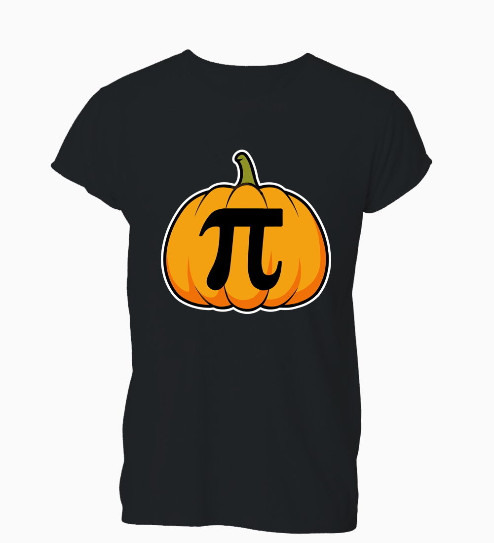 Pumpkin Pie Pi Funny Halloween Maths Nerd Geek T-Shirt Womens Fashion Brand Hipster Slim Top O-Neck Top Tee