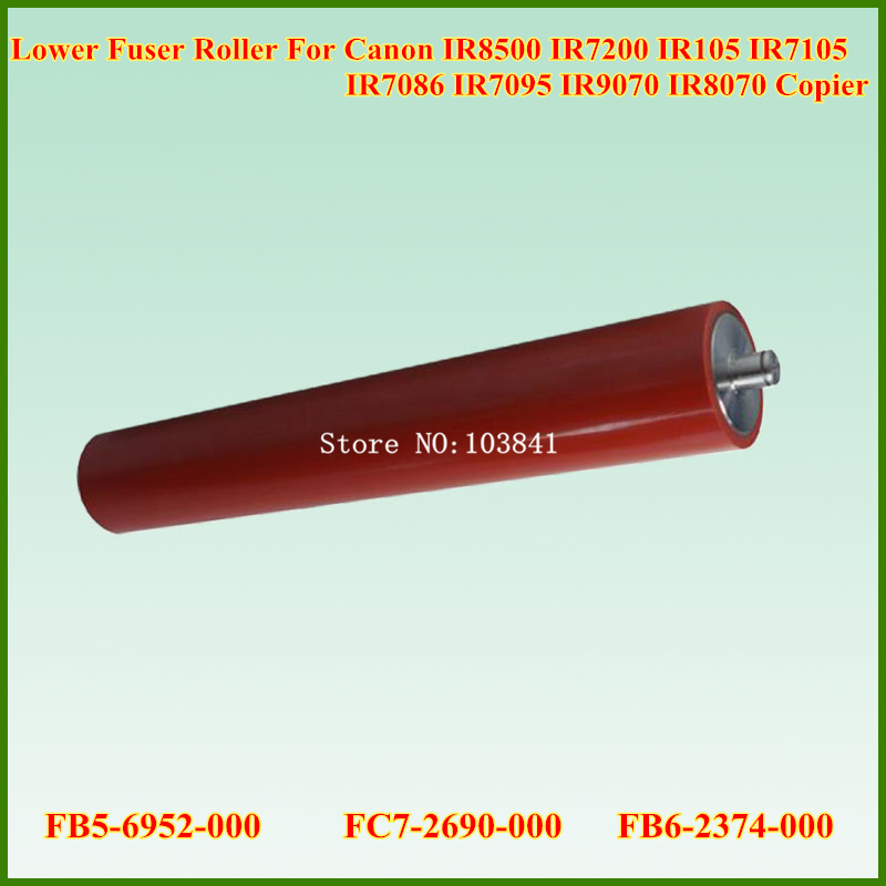 New FB5-6952-000 FC7-2690-000 FB6-2374-000 Lower Fuser Roller For Canon IR8500 IR 8500 105 8070 9070 7086 7095 7105 7200 Copier long sleeve open back v neck bodysuit
