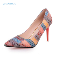 Free Shiping Shoes Woman 2017 Autumn Fashion New Style Thin Heels Pointed Toe Work Shoes Single