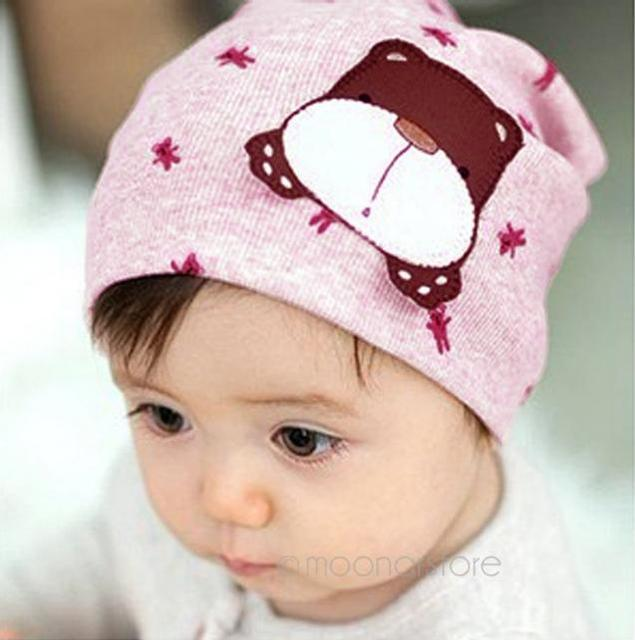 Candy Color Infant Baby Boys S Kids Cartoon Dog Print Knit Toddler Beanie Hat Warm Cap