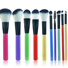 Professional 10pcs/set Makeup brushes Beauty Cosmetics Foundation Eye Shadow Lip Eyeliner Blush Make up Brush tools