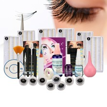 Makeup Different Size Individual False Eyelash Extension Kit Glue Pump CD Tool False Eyelash Extension Tool Kit for Exercise