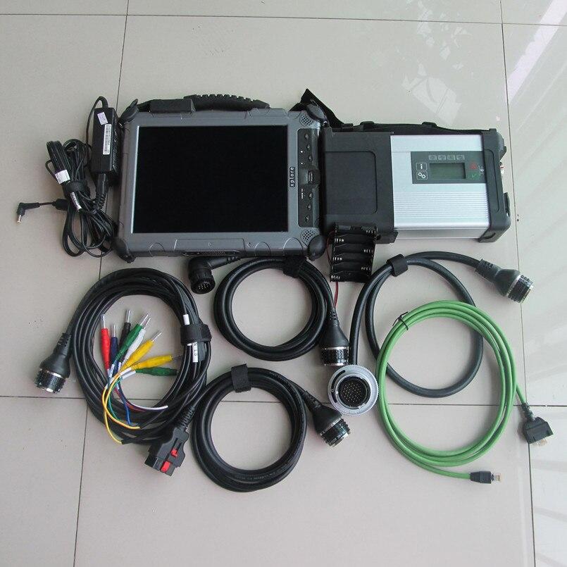 Le dernier mb star c5 sd se connecte avec 2018.07 logiciels 240 gb ssd super speed logiciel de diagnostic de voiture + Xplore ix104 (4g, i7) tablette
