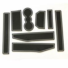 Anti Não Slip Com Palavras Em adesivos de Carro Almofada da Esteira do Copo Ranhura Portão Sulco Porta Para Land Range Rover Evoque 2012 2013 2014 2015