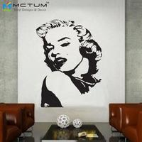 Removable Vinyl Fashion Marilyn Monroe Wall Decals Art Poster Wall Stickers Laptop Home Decor Large Size 52x70CM