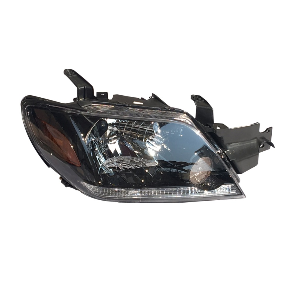 1Pcs Right Side Black Front Bumper Headlight Head Light Headlamp for Mitsubishi Outlander 2003-2006