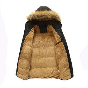 Image 5 - 2017 kış erkekler aşağı & Parkas pamuk yastıklı ceketler erkek rahat aşağı ceketler kalınlaşmak mont palto sıcak giyim büyük 5XL X579