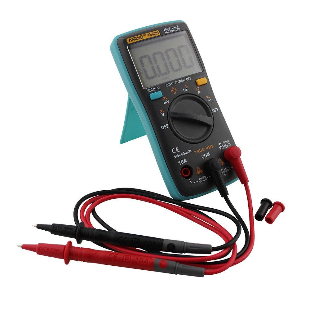 Prix pour 1 PC Universel Portable Rétro-Éclairage Numérique Multimètre 6000 Compte AC/DC Ampèremètre Voltmètre Ohm Mètre