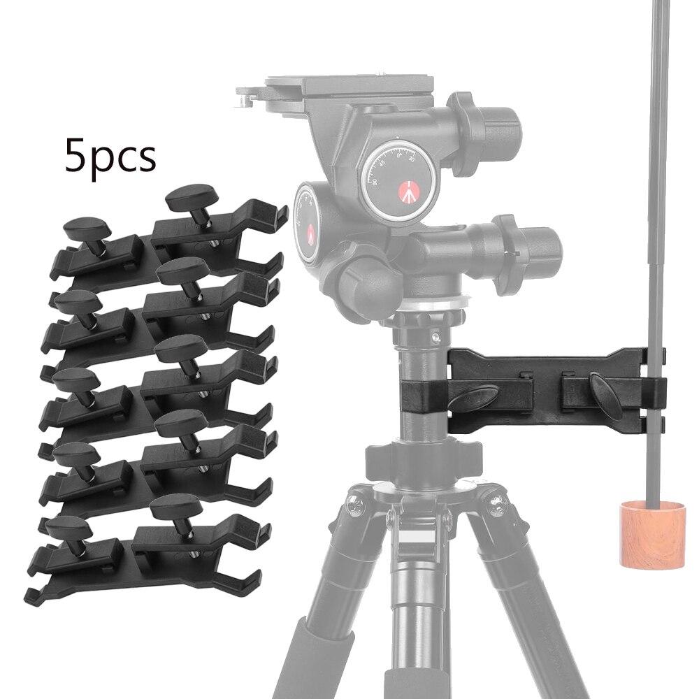 5 pièces Portable extérieur photographie porte-parapluie pince Clip caméra trépied lumière support Flash support Photo Studio accessoires