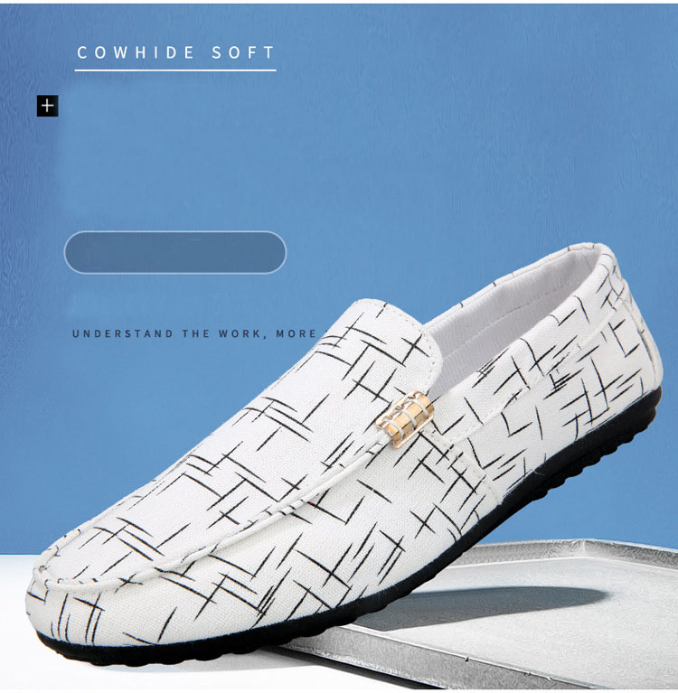 Men Loafers Spring Summer Men Shoes Casual Shoes Light Canvas Youth Shoes Men Breathable Fashion Flat Footwear