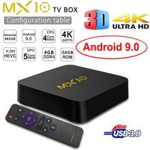 Android 9.0 MX10 Smart TV BOX DDR4 4GB Ram 64GB Rom Rockchip