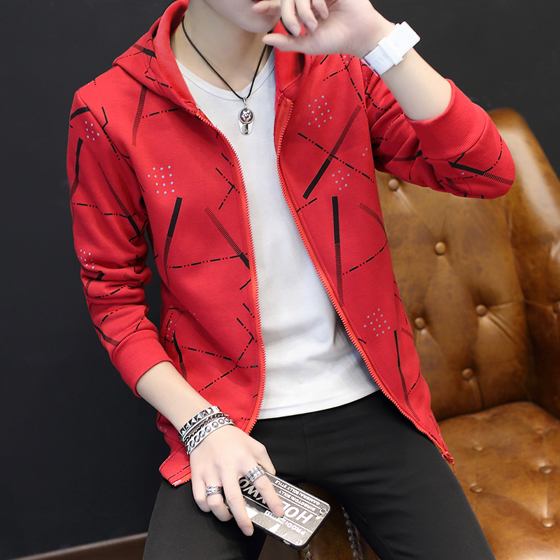 Jackets Men Korean Style Casual Males Coat Students Slim Fit Mens Printed Long Sleeve High Quality Comfortable Ulzzang Daily 26