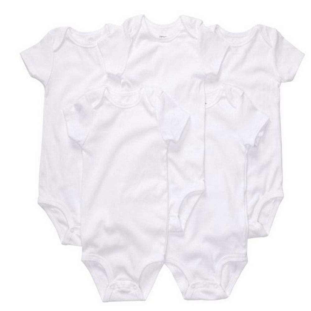 baby clothing ,baby white bodysuits , baby girls boys cotton clothes free ship . hot sell MOQ 1 piece