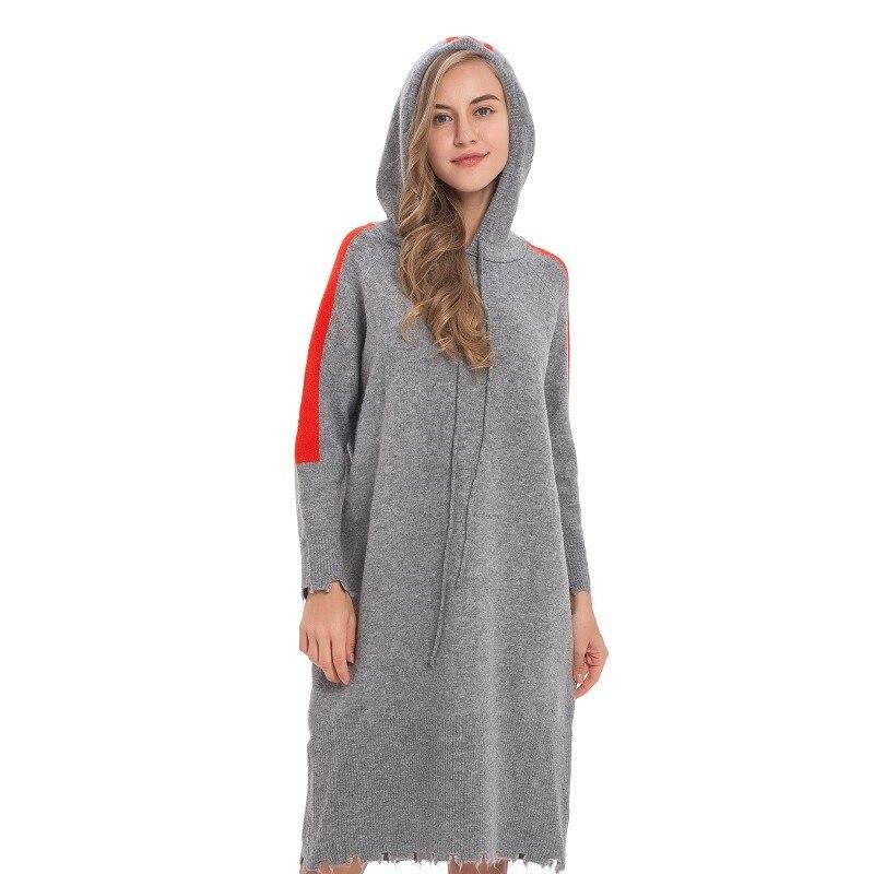 Nouveau Type de mouvement décontracté vêtements femmes gland rayé lâche maillots avec capuche