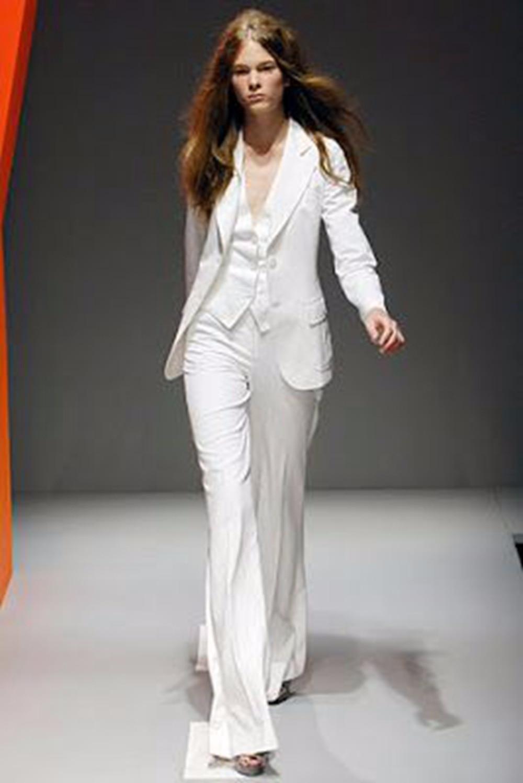 White Office Uniform Designs Women Business Suit Slim Fit