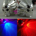 2 ШТ. Хромированная Рамка Номерного знака ЧЕРЕП Болты Chrome Череп Винты для Мотоциклов Cruiser Harley Choppers Скутер Streetbike